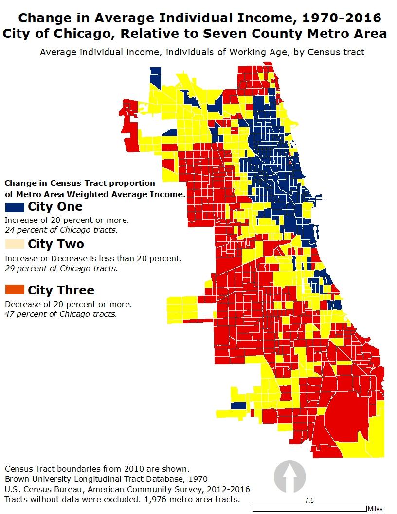 Chicago Three Cities Map